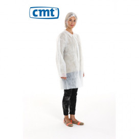 PP Non Woven Visitor Jacket White L 30 Gr. 100 St.